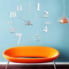 aliexpress com buy diy digital large wall clock 3d mirror