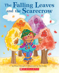Vintage Halloween Books by The Falling Leaves And The Scarecrow By Steve Metzger Scholastic