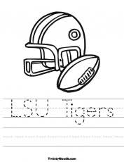 lsu coloring page coloring home