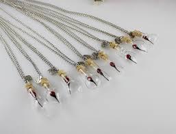 glass necklace pendants wholesale images 30x8mm glass tear drop mini flower necklace real flower necklace JPG