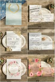 foil sted wedding invitations top 6 gold foil wedding invitations with matched wedding color