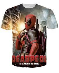 halloween shirts plus size 2016 brand clothing deadpool t shirt men american comic badass