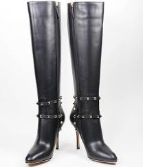 tall motorcycle boots valentino rockstud black leather tall boot the stylish stiletto