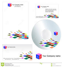 Business Card And Letterhead Design Template Business Card For Company Letterhead Template Stock Image