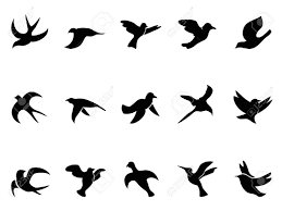 isolated simple bird royalty free cliparts vectors and stock
