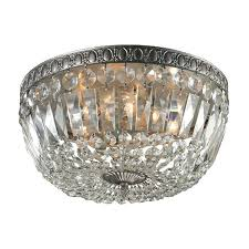 semi flush chandeliers 6 light crystal semi flush ceiling light