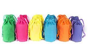 gift bags bulk canvas drawstring favor gift bags bulk set of 12 neon