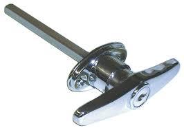 garage door key lock ideal security inc skt9303 keyed t garage door lock chrome