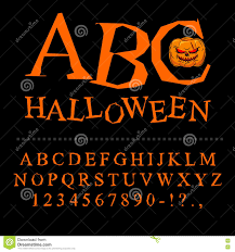halloween font curves of letters to terrible holiday broken al