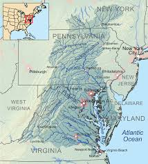 Virginia Map With Cities And Towns by Chesapeake Bay Wikipedia