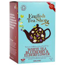 tea shop organic blueberry elderflower white tea