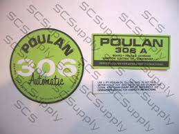 poulan 306a points version decal set chainsawr
