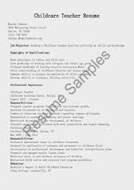 Resume Outline Example by Child Care Provider Resume Template Design