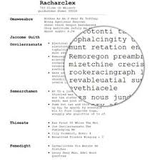 Resume Document Does The Typeface Of A Resume Impact Our Perception Of The
