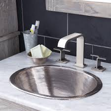 Brushed Nickel Bathroom Accessories by Cameo Copper Bathroom Sink Native Trails