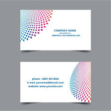 business card layout template at vectorportal