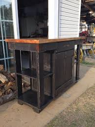 primitive kitchen islands handmade rustic kitchen island with reclaimed pallet lumber home