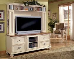 furniture white wood french country style big screen tv stand