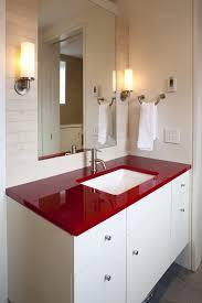 Red Bathroom Cabinets Red Bathroom Bathroom Contemporary With Towel Rack Chrome Bathroom