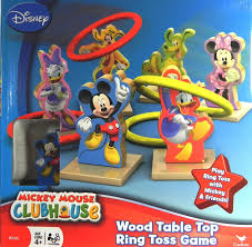 disney wood tabletop ring toss mickey mouse clubhouse