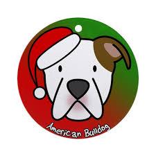 american bulldog ornament by menageriemayhem