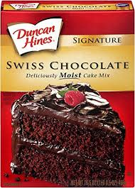 amazon com duncan hines signature cake mix swiss chocolate