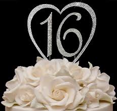 cake tops heart with number wedding cake top number cake top