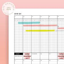 printable annual planner 2018 yearly planner a page for each quarter day designer