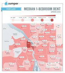 Map Downtown Portland by See How Much Portland Spent On Rent This Spring The Zumper Blog