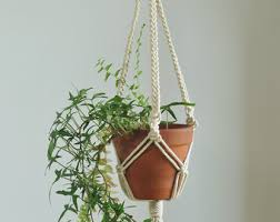Simple Macrame Plant Hanger - created to grow macrame plant holder created to grow