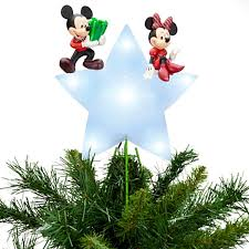 lighted tree topper disney store mickey minnie mouse lighted christmas