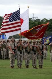Marines Holding Flag 3rd Marine Division Photos