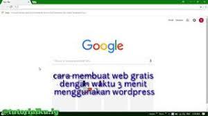 membuat website gratis menggunakan wordpress website