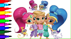 shimmer and shine coloring book pages nickelodeon videos brilliant
