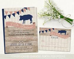 i do bbq wedding reception invitation set wedding reception