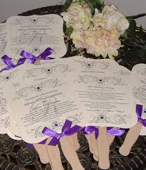 fan programs for weddings wedding fans with program wedding fan vintage sided