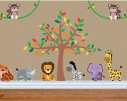 Jungle Wall Decal For Nursery Safari Wall Decal Etsy