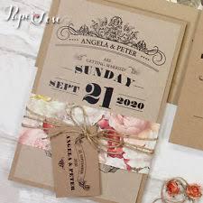Kraft Paper Wedding Invitations Wedding Invitation Paper Ebay