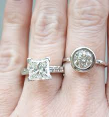 beveled engagement ring show us your bezel rings pricescope forum