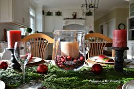 calypso in the country christmas table with red and black