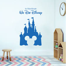 wall designer wall art stickers children playroom bedroom disney inspired wall sticker we do disney castle mickey mouse