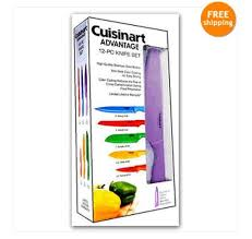cuisinart kitchen knives kitchen cuisinart colored knives stainless 12 knife set