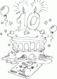 bonne fête 10 ans  Anniversaire  Pinterest  Coloriage Coloriage