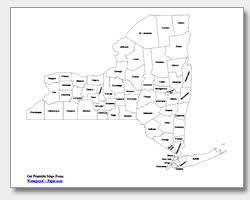 county map of ny printable york maps state outline county cities