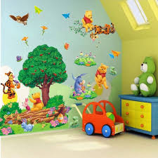 popular trees murals buy cheap trees murals lots from china trees winnie the pooh tree wall sticker removable art kids playroom vinyl decor mural bedroom wall stickers