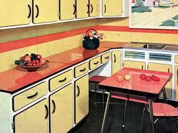 cuisine en formica en couleur souvenirs vintage