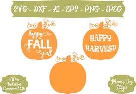 pumpkin svg free happy fall y u0027all svg pumpkin svg happy harvest svg fall clip