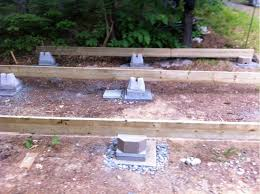 16x24 post and pier cabin re thinking foundation options small cabin forum