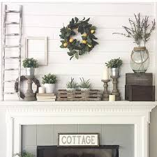 Interior Mantel Decorating Ideas High Ceilings Fireplace Mantel