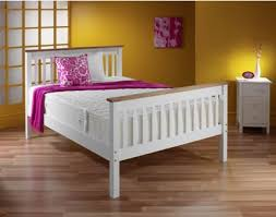 4ft Bed Frame White Wooden Bed Frame With Pine 4ft6